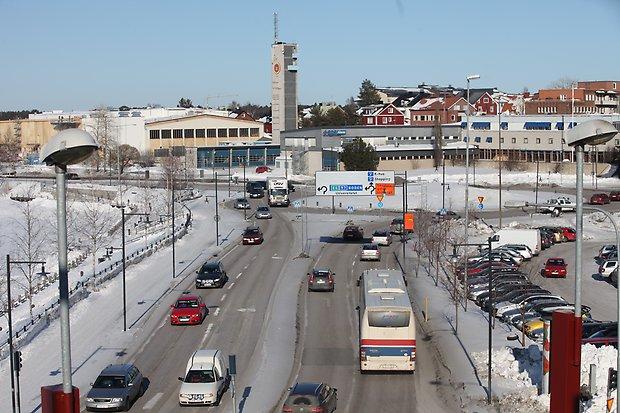 Luleå rondell trafik