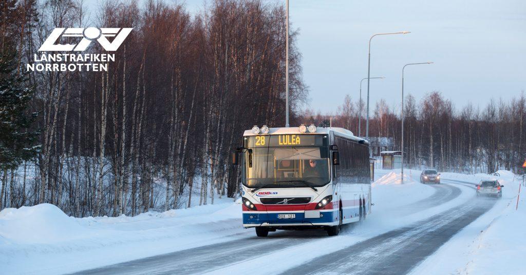 Foto buss 28 Luleå
