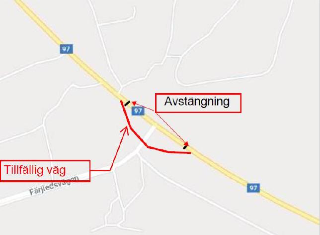 Karta omledningsväg